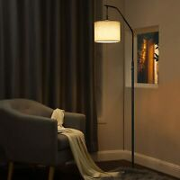 DEWENWILS ARC Modern Floor Tall Lamp Reading Hanging Light with Dimmable Bulbs