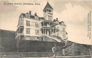 H56/ Bellingham Washington Postcard c1910 St Joseph Hospital Building