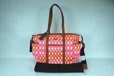 $345 Rebecca Minkoff Marissa Baby Bag Pink Orange Coated Canvas Diaper Handbag