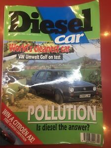 Diesel Car Magazine April 1990 Volkswagen Golf + Pollution