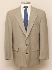 Mens 43R Polo University Club Brown/Tan/Grey Glen Check 100% Wool Blazer