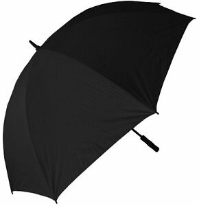 NEW RainStoppers 68 Inch Oversize Windproof Golf Umbrella Solid Black