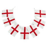 """10 Metres England English St George""""s Day Fabric Flags Bunting"""