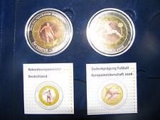 Gedenkmünzen Fussball-EM 2008 mit Holzkassette