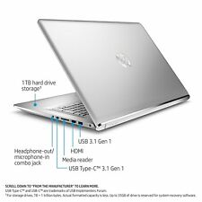 "HP Envy Laptop 17t 17 17.3"" UHD 4K i7-7500U 16GB 512GB SSD 4GB GeF 940MX AC Pro"