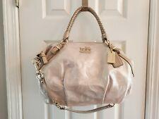 NWT Rose Gold Coach Madison Sophia Leather Convertible Embellished Handbag