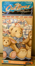 Teddy Bear Wallpaper Border 5 yds Outlines by Imperial Pre-pasted Sculpted Edge