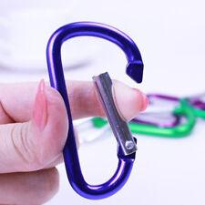 10X Camping Aluminum Carabiner Keyring D-Ring Key Chain Clip Hook Karabiner HOT