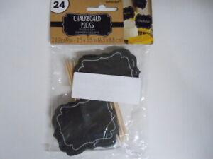 Amscan 24 CT Small Chalkboard Picks