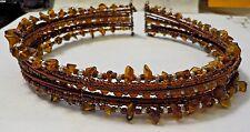 Vintage Beads & Stones Stiff Wire Choker Necklace