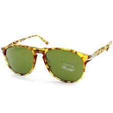 Persol PO6649S 10614E Yellow Tortoise/Green Limited Ed Men's Pilot Sunglasses