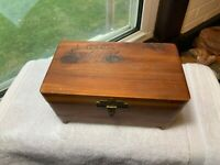 Vintage Miniature Cedar Chest Trinket Box Souvenir of the White Mountains NH USA