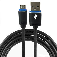 Micro USB 2.0 Kabel - Leder Ladekabel Pc LG L65 Aldi Nord Cabel 1 Meter Schwarz