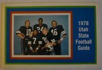 Vintage Football Media Press Guide Utah State University 1978