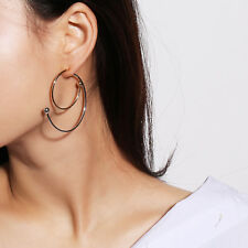 1Pair Vintage Big Circle Geometric Spiral Tribal Ear Hoop Dangle Earring Jewelry