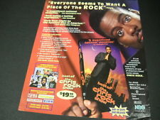 CHRIS ROCK 1999 Promo Poster Ad EVERYONE WANTS A PIECE OF THE ROCK