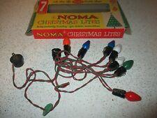 Vintage Christmas Lights Noma Victorian lanternes remplacement NUANCES X 5 NUANCES