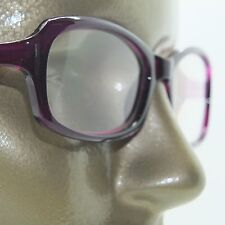 Reading Glasses Edgy Twisted Rope Side Chunky Plum Frame Readers +2.25 strength
