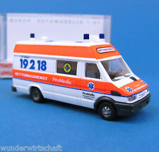 Busch H0 47907 IVECO DAILY Pro Medic Karlsruhe RTW KTW OVP HO 1:87 box