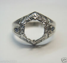 Antique Art Deco Ring Mounting Setting Hold 6.5-7MM 18K Ring Size-6 UK-L1/2
