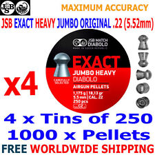 JSB EXACT HEAVY JUMBO ORIGINAL .22 5.52mm Airgun Pellets 4(tins)x250pcs