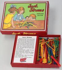 RETRO JACK STRAWS PICK UP STICKS MIKADO TYPE GAME 1930s JACKSTRAWS FAMILY FUN