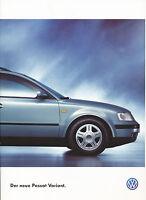 VW Passat Variant Prospekt 1997 6/97 brochure station broszura brosjyre catalog