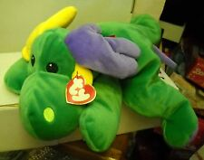 #5890 NWT RETIRED Ty Pillow Pals Collection 1998 Antlers the Reindeer Green