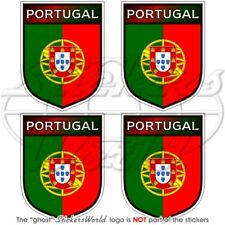"""PORTUGAL Portuguese Shield 50mm (2"""") Vinyl Bumper-Helmet Stickers Decals x4"""