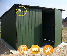 2x4 Blechgarage Garage Lager Schuppe Stahlhalle RAL6020M + Dachneigung+Flügeltor