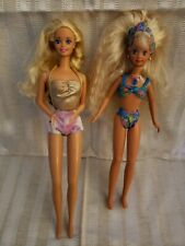 Lot of two vintage Barbies, 1966 and 1987 in swim suits