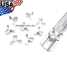 """1/4"""" Replacement Steel Socket Rail Clips Pegs Ullman Devices 10pc 1/4 Drive USA"""