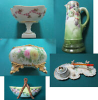 LIMOGES FRANCE ANTIQUE CHOCOLATIER, FOOTED BOWL, CANDY DISH PICK ONE
