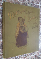 Pictures from Dickens with Readings, 1895, ~Breathtaking Chromolithographs!