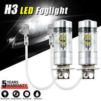 Lampadina 2 pezzi H3 100W 6000K LED Lampadina fendinebbia per auto 12-24V