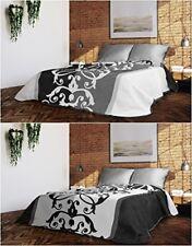 Édredons et couvre-lits lavable en machine noirs, pour chambre à coucher