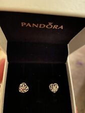 Pandora Family Tree Heart Stud Earrings