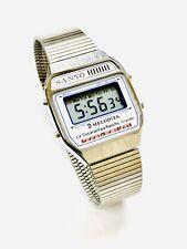 Vintage Sanyo Melody Lcd Alarm Chronograph  Digital Wrist Watch NOS 1970s (213M)