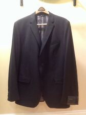 BANANA REPUBLIC TAILORED FIT BLAZER SIZE 46L WOOL BLEND DARK GREY/STRIPE