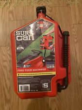 New listing SureCan Easy Pour Rotating Nozzle 5 Gallon Flow Control Gas Container Can, Red