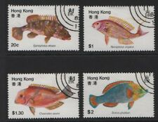 Hong Kong SG 395-398 Fishes 1981 Fine Used