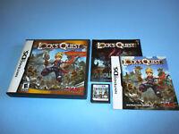 Lock's Quest Nintendo DS Lite DSi XL 3DS 2DS w/Case & Manual
