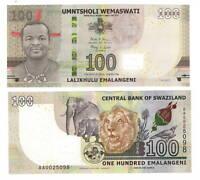 SWAZILAND eSwatini Tyvek 100 Emalangeni (2017) P-42 AA Prefix UNC Banknote