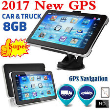 "7"" 8GB CAR TRUCK HGV LGV GPS SAT NAV NAVIGATION + FREE WORLD MAPS + LIFE UPDATES"