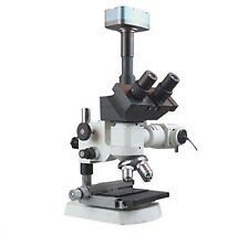 Radical 2000x Trinocular Top Reflected Light Microscope w XY Stage 5Mp Camera...