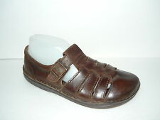 Womens Birkenstocks Brown Leather T-strap shoe Sz 40
