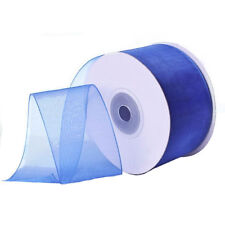 "1/4"" Plain Sheer Organza Nylon Ribbon 25 Yards - Royal Blue"