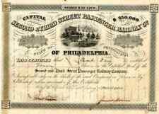 1859 Second & Third St Passenger RW Stock Certificate