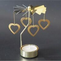 Christmas Rotating Candleholder Tealight Candlestick Shelf Display Heart 5''