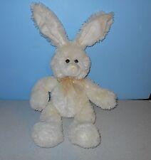 "16"" Cream Easter Bunny Soft Stuffed Plush Animal by Fiesta w/ Egg Ribbon"